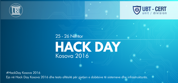 25 to 26 November – Hack Day Kosova 2016