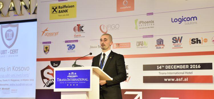 """UBT-CERT prezanton aktivitetet në Konferencën e dytë """"Albanian Security Forum"""""""