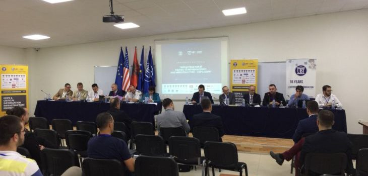 "At UBT was held the first national conference on ""Critical Information Infrastructures and their Protection – CIIP & GDPR"""
